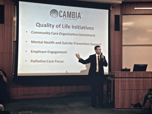 Cambia presenting findings